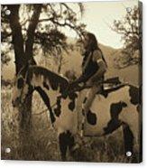 Rides His Horse 3 Acrylic Print