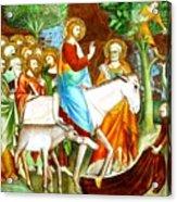 Rides Into Jerusalem Acrylic Print