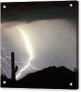 Ridin The  Southwest Desert Storm Out Acrylic Print