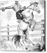 Riding A Flying Horse Acrylic Print