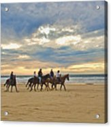 Riding At The Beach Acrylic Print