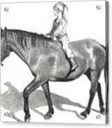 Riding Bareback Acrylic Print