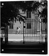 Riding Out From Classes Acrylic Print