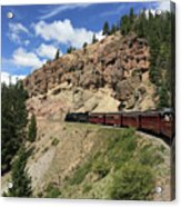 Riding The Cumbres And Toltec Acrylic Print