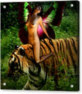 Riding The Tiger Acrylic Print