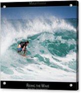 Riding The Wave - Maui Hawaii Posters Series Acrylic Print