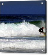 Riding The Waves At Asilomar State Beach Four Acrylic Print