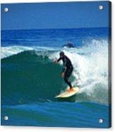 Riding The Waves At Asilomar State Beach Three Acrylic Print
