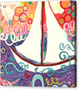 Riding The Waves In Bubbles Of Joy Acrylic Print