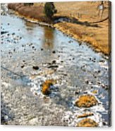 Riffles In The River Acrylic Print