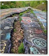 Rift In The Former Route 61 Acrylic Print