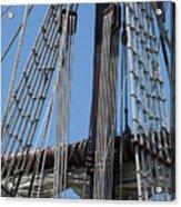Rigging Aboard The Galeon Acrylic Print