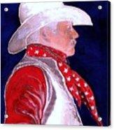 Right Facing Cowboy Acrylic Print