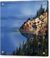 Right Side Of Crater Lake Oregon Acrylic Print