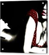 Rihanna In Red Acrylic Print