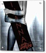 Rihanna Love Card By Gbs Acrylic Print