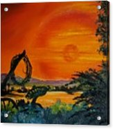 Rim Of Fire     72 Acrylic Print