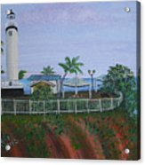 Rincon's Lighthouse Acrylic Print by Gloria E Barreto-Rodriguez