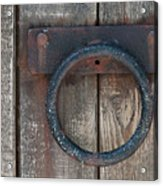 Ring Knock Acrylic Print by Dan Holm