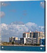 Ringling Causeway Sarasota Skyline West View Acrylic Print