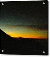 Rinjani Sunset Acrylic Print