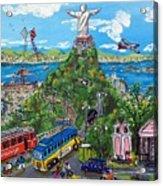 Rio De Fe, Futebol E Fantasia Acrylic Print