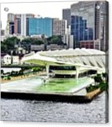 Rio de Janeiro Harbor Buildings Acrylic Print