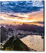 Rio De Janeiro Sunset Acrylic Print