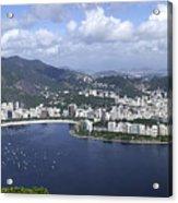 Rio De Janiero Aerial Acrylic Print