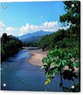 Rio Grande And Blue Mountain Acrylic Print