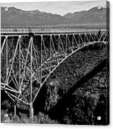 Rio Grande Bridge In New Mexico Acrylic Print