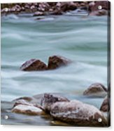 Rio Grande Flow Through Stones Acrylic Print
