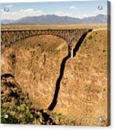 Rio Grande Gorge Bridge Taos New Mexico Acrylic Print