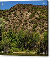 Rio Grande Panorama Pilar New Mexico Acrylic Print