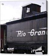 Rio Grande Rail Cars Acrylic Print