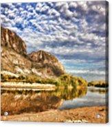 Rio Grande River Oil Painting Acrylic Print