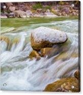 Rio Grande Rocky Flow Acrylic Print
