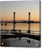 Rio Vista Bridge And Sail Boats Acrylic Print