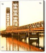 Rio Vista Bridge Sunrise Acrylic Print by Troy Montemayor