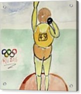 Rio2016 - Shot Putt Acrylic Print
