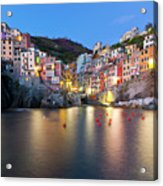 Riomaggiore After Sunset Acrylic Print