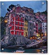 Riomaggiore In Cinque Terre Italy Acrylic Print
