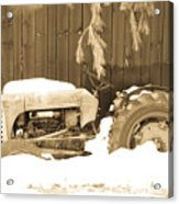 Rip Old Oliver Tractor Acrylic Print