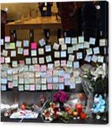 Rip Steve Jobs . October 5 2011 . San Francisco Apple Store Memorial 7dimg8561-1 Acrylic Print by Wingsdomain Art and Photography