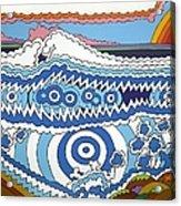 Rip Tide Acrylic Print by Rojax Art