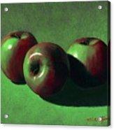 Ripe Apples Acrylic Print by Frank Wilson