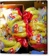 Ripe Bananas In A Box At The Store Acrylic Print