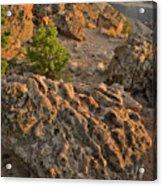 Ripple Boulders At Sunset In Bentonite Quarry Acrylic Print