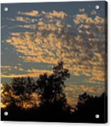 Ripple Clouds At Sunset Acrylic Print