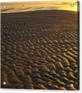 Ripples In The Sand Low Tide Golden Sunset Acrylic Print